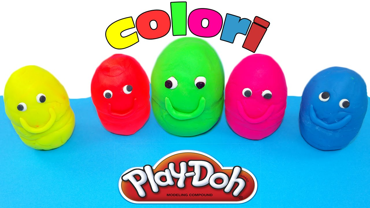 imparare i colori per bambini pongo play doh giochi per bambini youtube. Black Bedroom Furniture Sets. Home Design Ideas