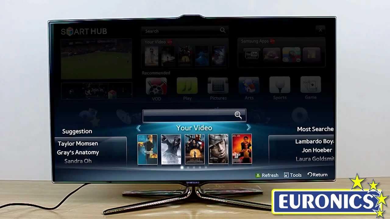 tv led samsung 40es7000 caratteristiche youtube. Black Bedroom Furniture Sets. Home Design Ideas