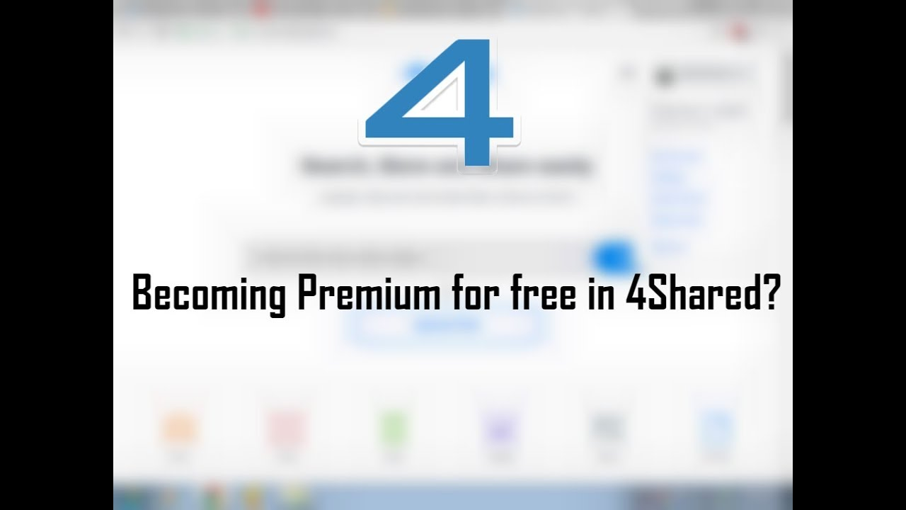 How to Become Premium in 4shared! for Free!