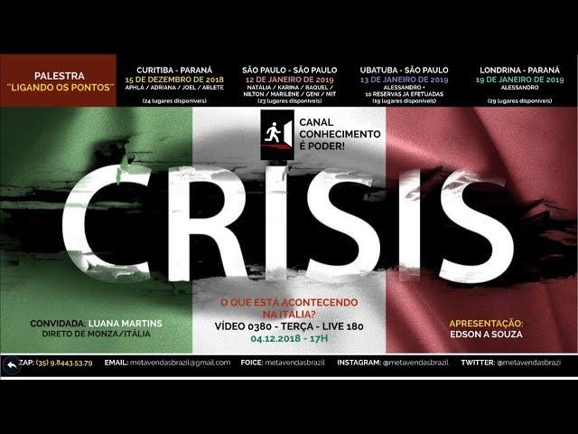 VÍDEO 0380 - O que está acontecendo na Itália? - 17h