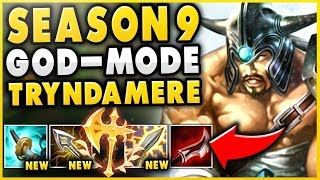 FULL BUILD *NEW CRIT* 1V9 TRYNDAMERE IS INSANE! SEASON 9 TRYNDAMERE GAMEPLAY! - League of Legends