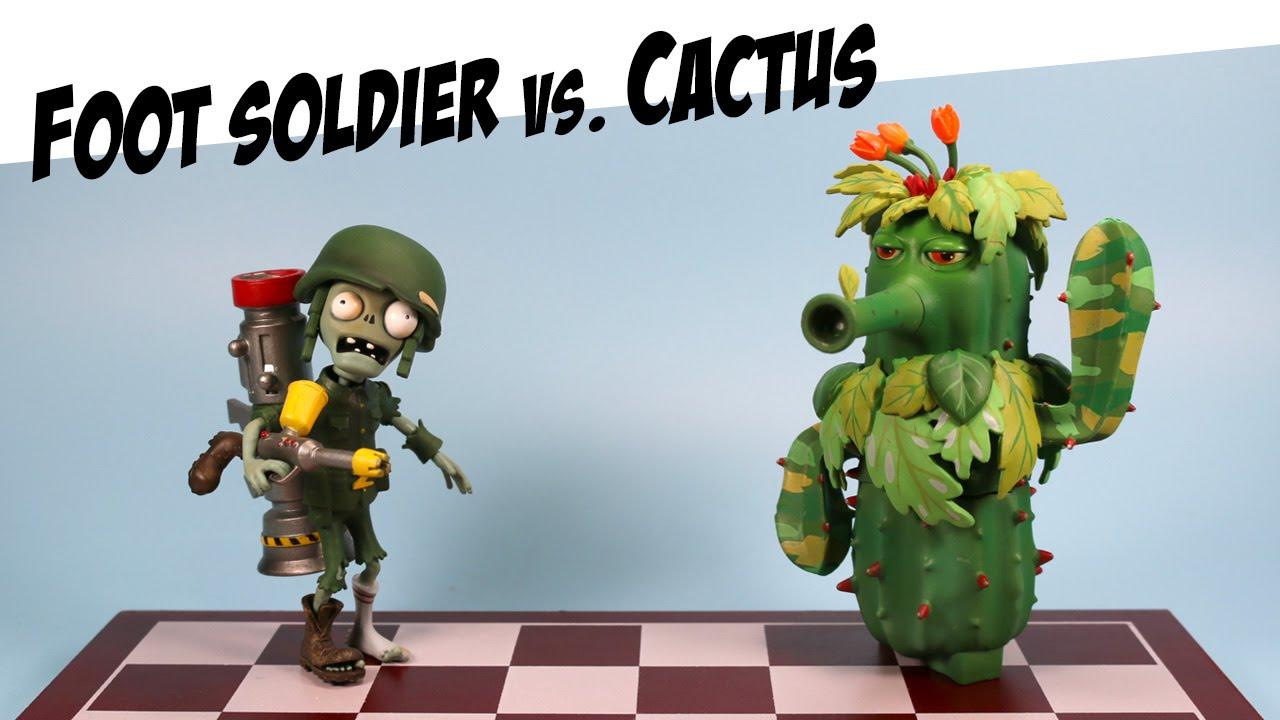 Plants vs zombies garden warfare camo cactus vs foot - Plants vs zombies garden warfare toys ...