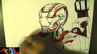 Dibujando a: Iron Patriot (Ironman)