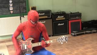 Using AmpKit+ for recording guitars in Garageband (Hero - Nickelback - cover))
