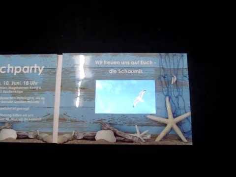 "4,3"" Videokarte BEACHPARTY"