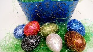 Antique Easter Basket and Eggs ~ Featuring Miriam Joy