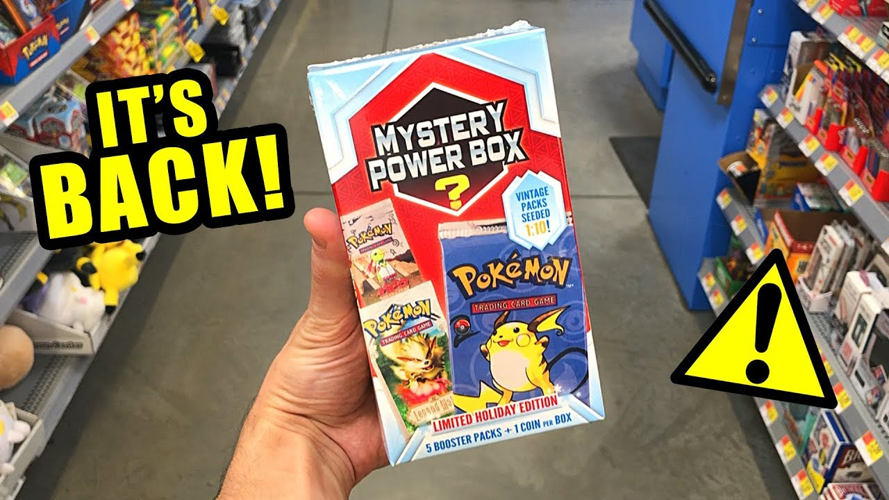 0c9f4a50ca IT'S BACK!* Opening Pokemon Cards MYSTERY POWER BOX at Walmart Store ...