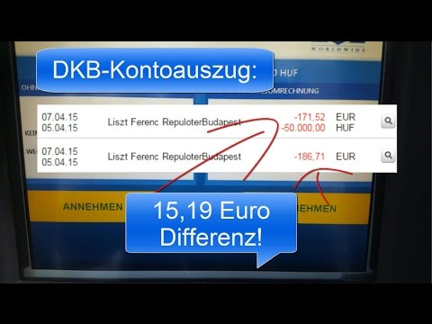 Risiko: Geld abheben im Ausland