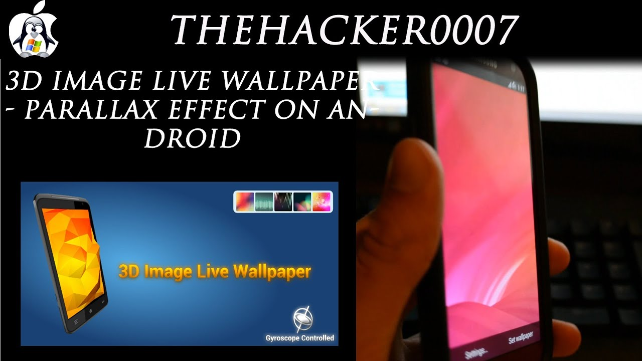 3d image live wallpaper parallax effect on android youtube
