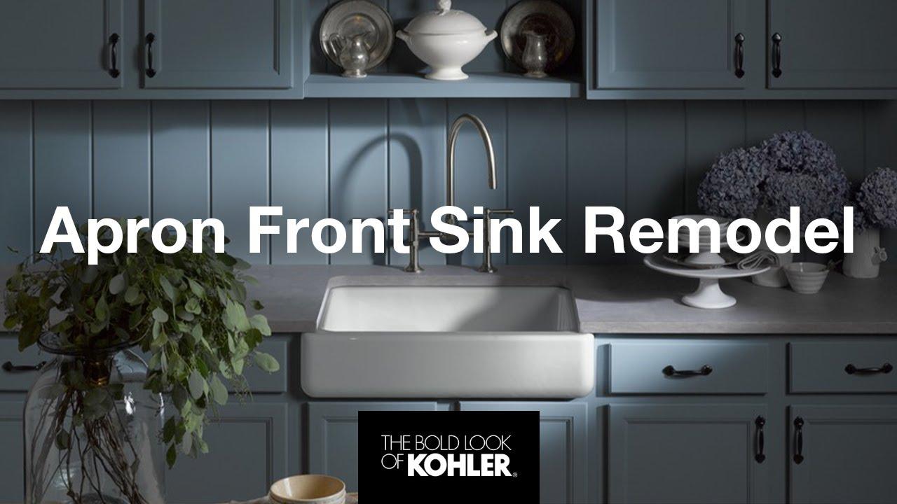 kohler kitchen remodel farmhouse sink