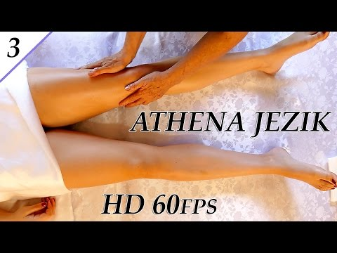 Leg & Thigh Swedish Massage Techniques - ASMR Athena Jezik Full Body Series 3 Of 7 HD 60P