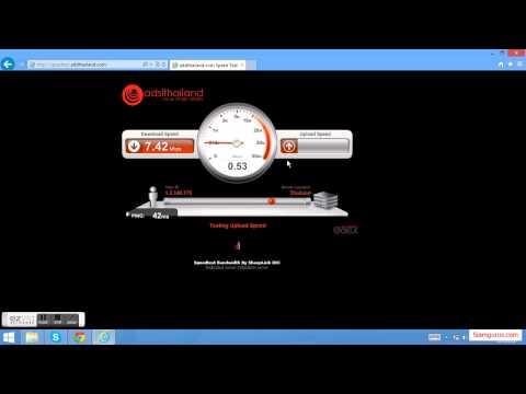 บริการ เช็คความเร็วเน็ต  speedtest.adslthailand.com