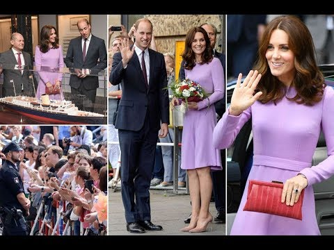 Beaming Kate Middleton conducts orchestra in Hamburg concert hall