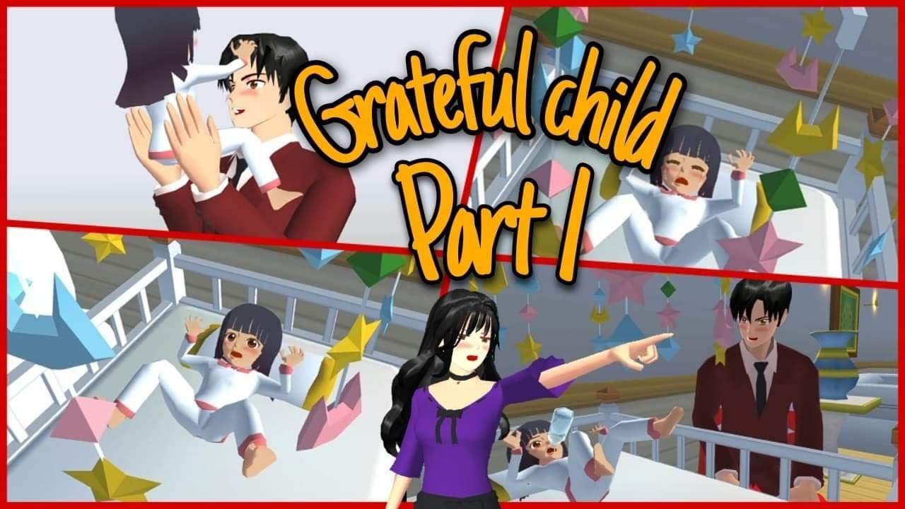Grateful Child (Part 1) | Sad Story | Sakura School Simulator