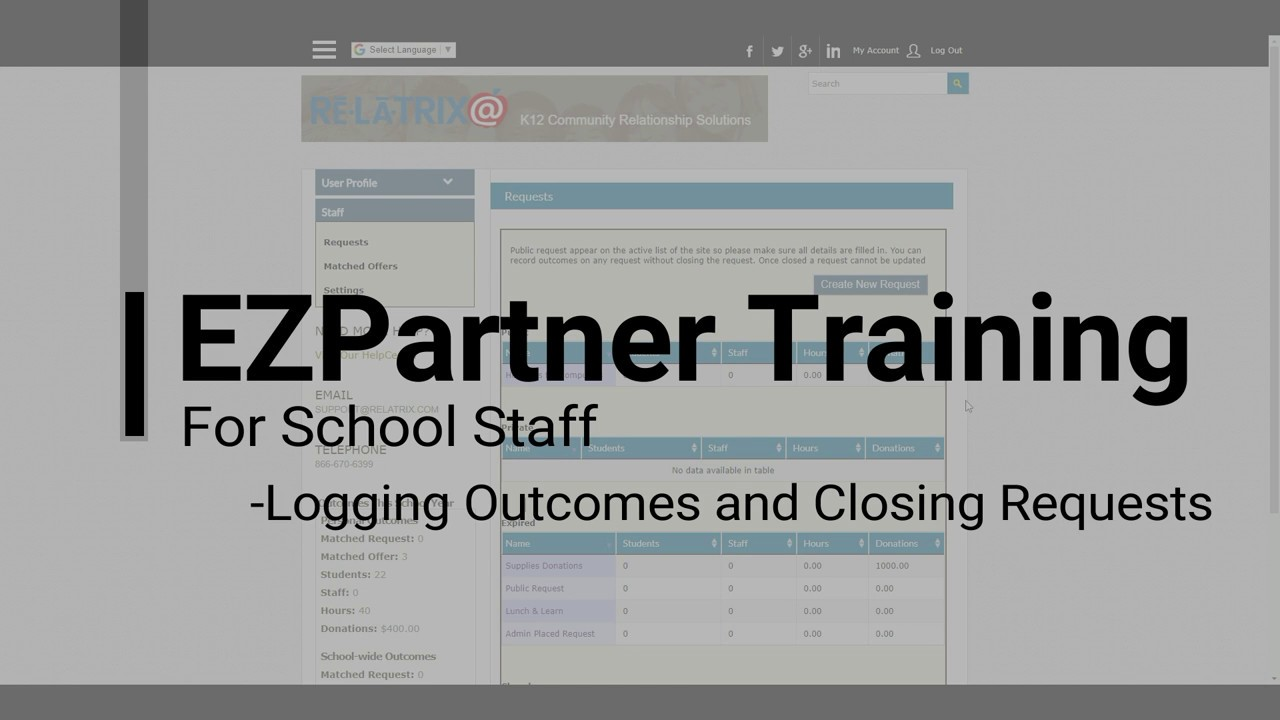 EZPARTNER - How To Record Request Outcomes