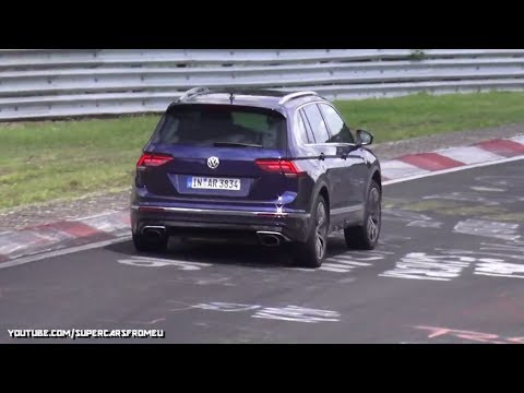 2018 Volkswagen Tiguan R spied Testing at the Nurburgring , Nordschleife!!