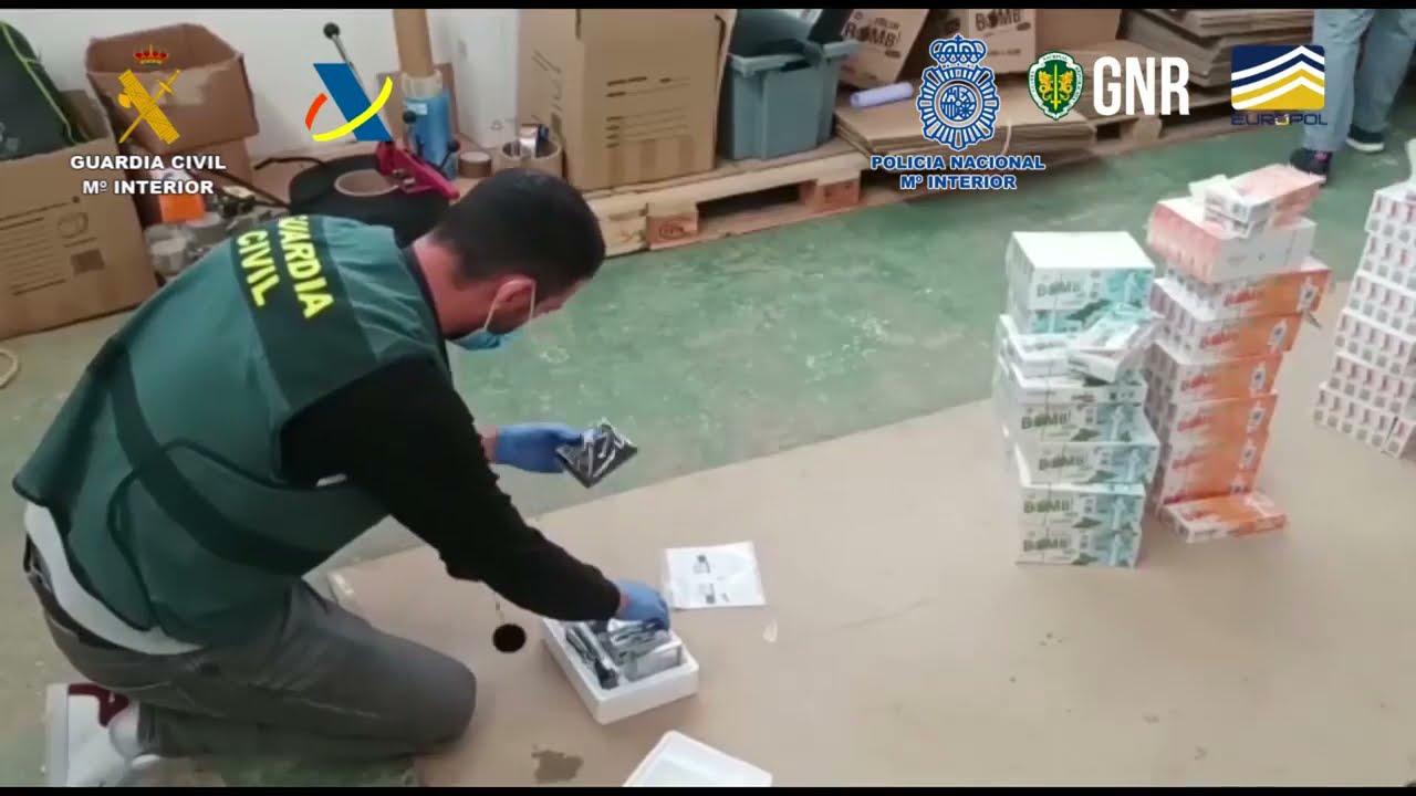 España y Portugal desarticulan una organización criminal dedicada al contrabando