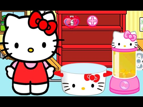 Hello Kitty Lunchbox Game for Kindergarten Kids to learn cooking and create Meal for School