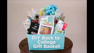 Diy Back To College Gift Basket Flour On My Face