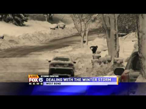 Storm delivers foot of snow, power outages in West Bend