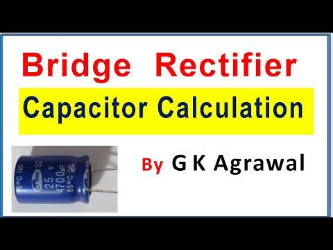 Full Bridge rectifier circuit, capacitor value, voltage selection