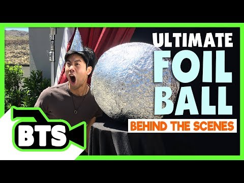 Making the Foil Ball Contraption! (BTS)