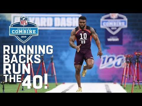 Running Backs Run the 40-Yard Dash | 2019 NFL Scouting Combine Highlights