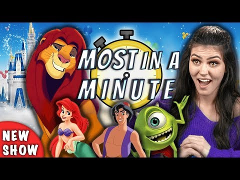 Who Can Name The Most Disney Movies In A Minute?   Most In A Minute (REACT)