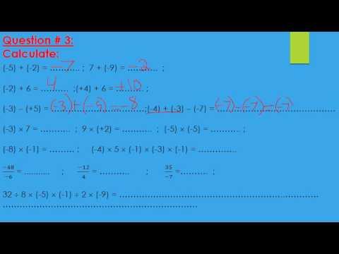 Grade 7 Math Semester 1 Exam Review - YouTube