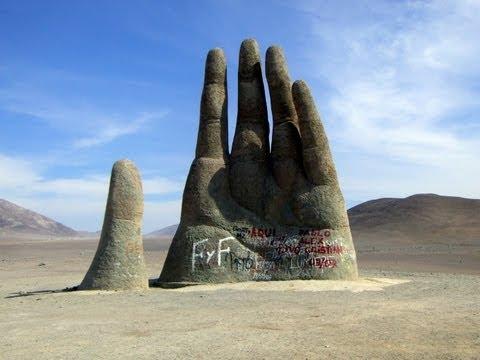 Mano del Desierto, Panamerican Highway, Atacama Desert, Chile, South America