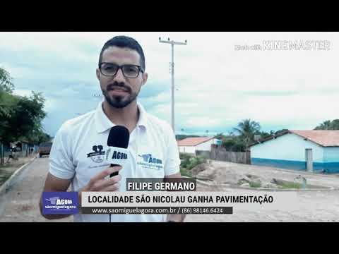 Localidade São Nicolau é contemplada com pavimentação