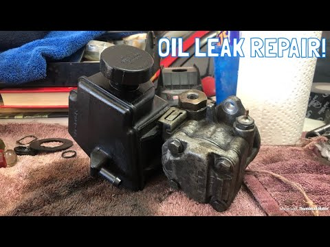 Saab 9-3 Leaky Power Steering Pump Fix!