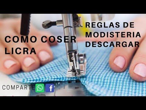 COMO COSER LICRA HILO ELASTICO .FACIL DE COSER