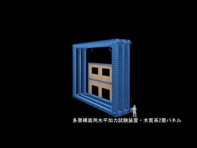 多層構面用水平加力装置(木質系2層パネルによる一例)
