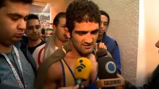 Iran wins Wrestling World Cup in Tehran 2013, U.S.A  team in Iran welcomed by Ahmadinejad.