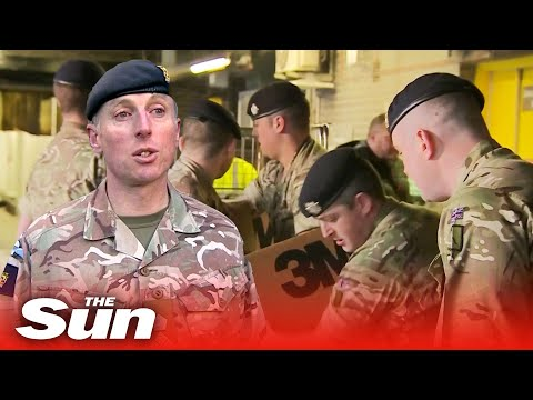 British Army Delivers Personal Protective Equipment To UK Hospitals