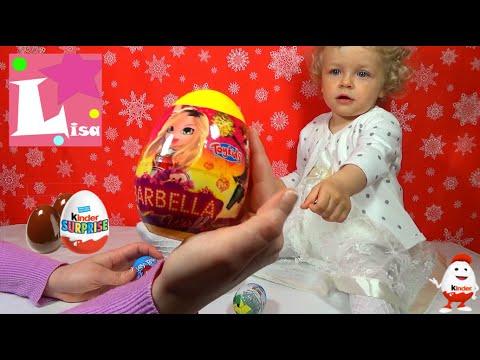 Открываем киндеры сюрпризы Шоколадные яйца видео