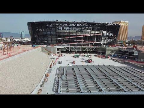 (416) Raiders coach Jon Gruden tours Allegiant Stadium for first time - YouTube