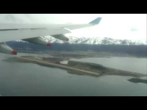 Airbus A330 landing to Malvinas Argentinas International Airport