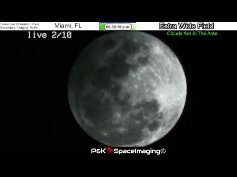 The Moon: Live Stream Eclipse: 2-10/11-17 (100% Illuminated)