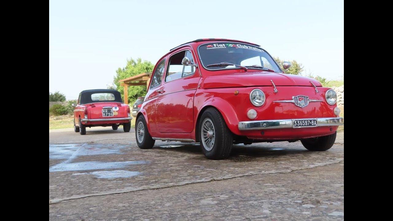 Sycylia. Fiat 500 Giannini. Bianchina Cabrio. Dwa cylindry w górach.