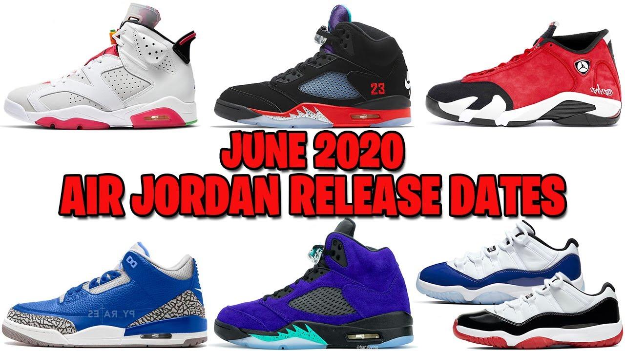 JUNE 2020 AIR JORDAN RELEASE DATES