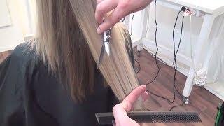 МАСТЕР-КЛАСС по текстуре на длинные волосы в женских стрижках. Курсы обучение парикмахеров.