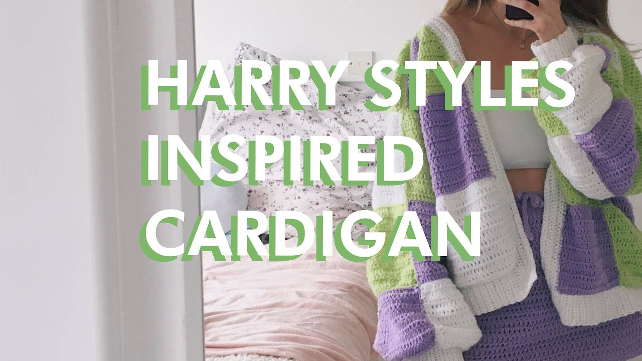 Crochet a HARRY STYLES INSPIRED CARDIGAN with me ♡ and help me fix it lol