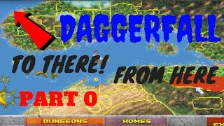 HOW BIG IS THE MAP in Daggerfall? Walk Across the Map Part 0