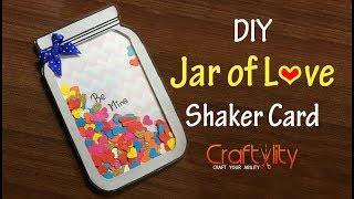 DIY Jar of Love Shaker Card | Easy to make Valentine's Day Card