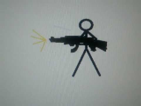 Stickman Shooting A Gun Using Pivot Youtube