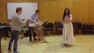 Lucia di Lammermoor: Mad scene rehearsal