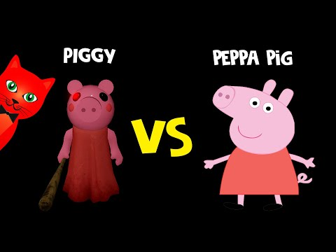 СКИНЫ ПИГГИ Vs СВИНКА ПЕППА ПЕРСОНАЖИ. Сравнение персонажей и скинов   Piggy Roblox   Свинка Пигги