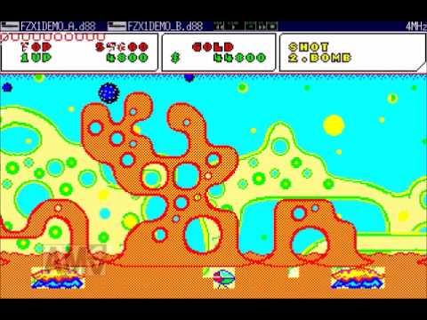 X1ファンタジーゾーン Fantasy Zone (Sharp X1) レトロエクスプレス3デモ版 エミュレータ稼働 PSG版BGM